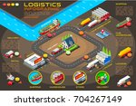 export trade logistics... | Shutterstock . vector #704267149