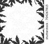 monochrome herbal square frame... | Shutterstock .eps vector #704267815