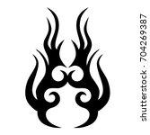 tattoo tribal vector design.... | Shutterstock .eps vector #704269387