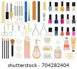 a collection set vector of... | Shutterstock .eps vector #704282404
