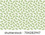 Money Seamless Pattern. Green...