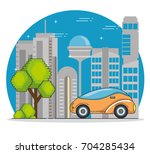 futuristic and modern car design | Shutterstock .eps vector #704285434