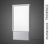 outdoor white lightbox... | Shutterstock .eps vector #704285611