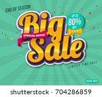 sale banner template design ... | Shutterstock .eps vector #704286859