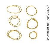 hand drawn circles  with golden ... | Shutterstock .eps vector #704293774