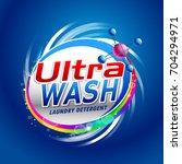 blue laundry detergent... | Shutterstock .eps vector #704294971