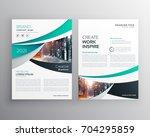 blue annual report brochure... | Shutterstock .eps vector #704295859