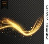 transparent golden light effect ... | Shutterstock .eps vector #704296591