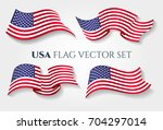 Usa Flag Vector Illustration....