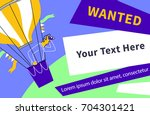 wanted. businessman hr flying... | Shutterstock .eps vector #704301421
