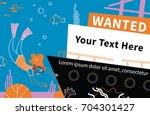 wanted. girl scuba diving...   Shutterstock .eps vector #704301427