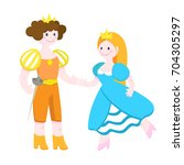 vector illustration of a prince ... | Shutterstock .eps vector #704305297