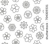 seamless pattern with flowers ... | Shutterstock .eps vector #704305531
