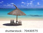 tropical beach in dream island | Shutterstock . vector #70430575