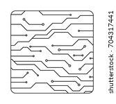 technology digital future... | Shutterstock .eps vector #704317441