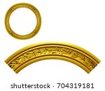 golden ornamental segment ... | Shutterstock . vector #704319181