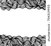 abstract monochrome wavy...   Shutterstock . vector #704319955