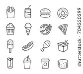 collection of icons... | Shutterstock .eps vector #704320399