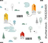 scandinavian geometric seamless ... | Shutterstock .eps vector #704320405