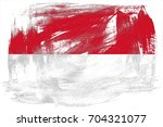 indonesia flag grunge... | Shutterstock . vector #704321077