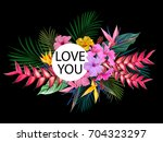 exotic tropical flowers for a... | Shutterstock .eps vector #704323297