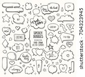think   talk speech bubbles... | Shutterstock .eps vector #704323945