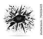 abstract modern vector... | Shutterstock .eps vector #704326435