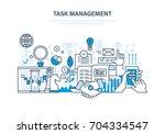 task management concept. time... | Shutterstock .eps vector #704334547