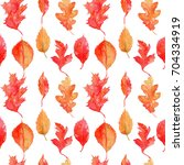 seamless pattern with... | Shutterstock . vector #704334919