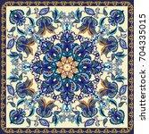 fantastic flower ornament.... | Shutterstock .eps vector #704335015