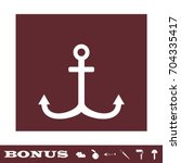 anchor icon flat. simple white...