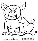 black and white cartoon vector... | Shutterstock .eps vector #704335459