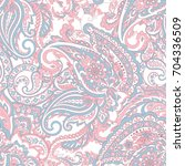 paisley indian pattern....   Shutterstock .eps vector #704336509