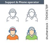 occupations colorful avatar set ... | Shutterstock .eps vector #704341789