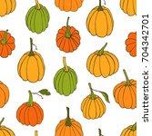 hand drawn vector seamless... | Shutterstock .eps vector #704342701