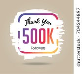 thank you design template for... | Shutterstock .eps vector #704344897
