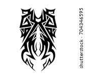 tribal tattoo art designs.... | Shutterstock .eps vector #704346595