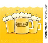 vector oktoberfest vector label ... | Shutterstock .eps vector #704348659