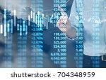 businessman plan graph growth... | Shutterstock . vector #704348959