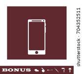 smartfon icon flat. simple... | Shutterstock . vector #704352511
