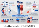 gender equality infographic... | Shutterstock .eps vector #704354329
