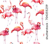 watercolor seamless pattern on... | Shutterstock . vector #704355259
