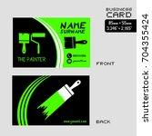 business card for painter worker   Shutterstock .eps vector #704355424