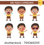 character design set of a cute... | Shutterstock .eps vector #704360245