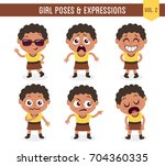 character design set of a cute... | Shutterstock .eps vector #704360335