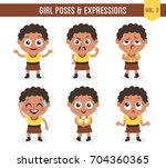 character design set of a cute... | Shutterstock .eps vector #704360365