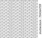 hand drawn pig vector pattern.... | Shutterstock .eps vector #704364709
