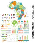 africa map and infographics... | Shutterstock .eps vector #704368201