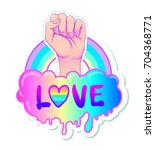 equal love. inspirational gay... | Shutterstock .eps vector #704368771