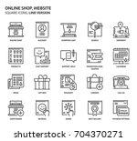 website shop  square icon set.... | Shutterstock .eps vector #704370271